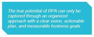 Plan a Sustainable, Enterprise-wide RPA Model   ScottMadden