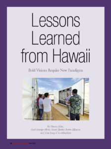 Lessons Learned from Hawaii
