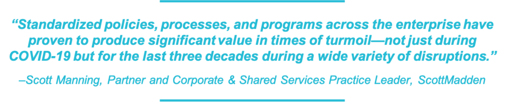 Standardized policies, processes, and programs quote.