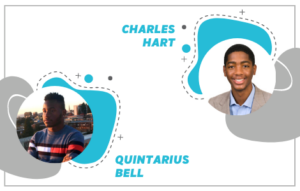 Scholarship recipients Charles Hart and Quintarius Bell